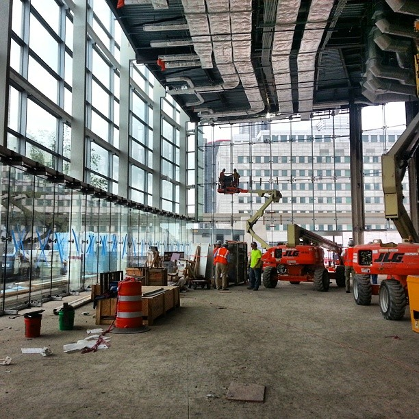 Another one nearing completion Cobo Detroit enclos turnerConstruction