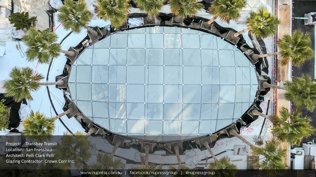 Transbay Gridshell W10 Skylight Nupress designed and fabricated Crown Corrhellip